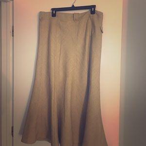 Tweed A Line Womens Skirt